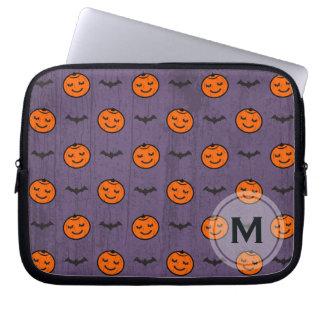 Kawaii Halloween Kürbis-Muster kundengerecht Laptopschutzhülle