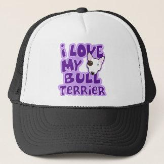 Kawaii I Liebe mein Stier-Terrier Truckerkappe
