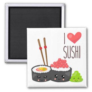 Kawaii I Liebe-Sushi-Magnet Quadratischer Magnet