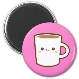 Kawaii Kaffee-Magnet Runder Magnet 5,1 Cm