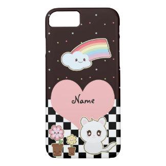 Kawaii Kätzchen und Regenbogen so niedlich iPhone 8/7 Hülle