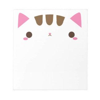 Kawaii Katzen-Notizblock Notizblock