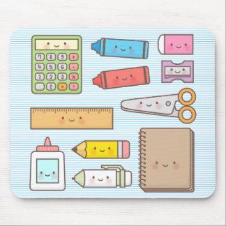 Kawaii Kinder zurück zu Schulbedarf Mousepad