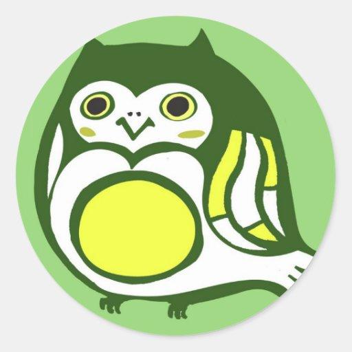 Kawaii Kitschy Eule Runde Sticker
