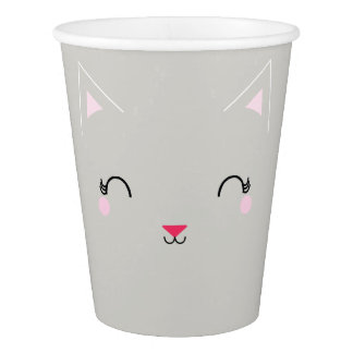 kawaii Kitty CAT-GEBURTSTAGS-Papier-Party-Schale Pappbecher