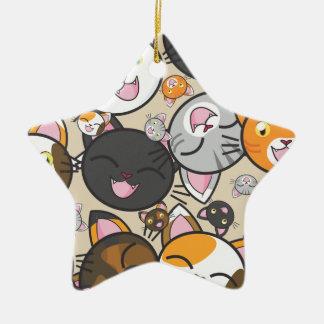 Kawaii Kitty-Keramik-Verzierung (mehrfache Formen) Keramik Ornament