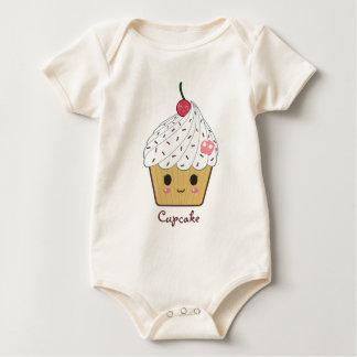 Kawaii kleiner Kuchen mit dem rosa Zuckerschädel Baby Strampler