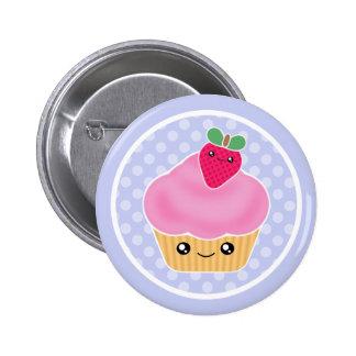 Kawaii Kuchen-Erdbeere Buttons