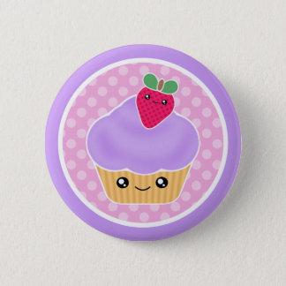 Kawaii Kuchen-Erdbeere Runder Button 5,7 Cm