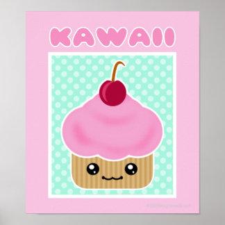 Kawaii Kuchen-Kirschplakat Poster
