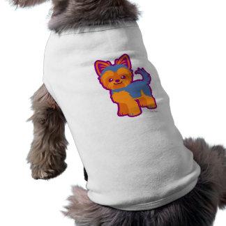Kawaii kurzer Haar Yorkie Cartoon-Hund Top