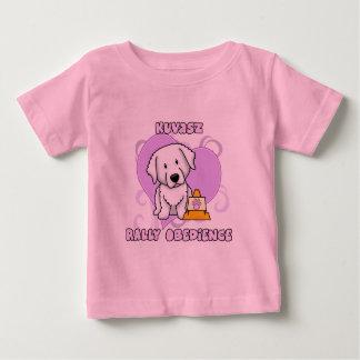 Kawaii Kuvasz Kundgebungs-Gehorsam Baby T-shirt