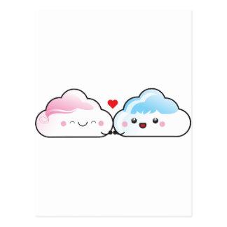 Kawaii Liebe-Wolken Postkarten