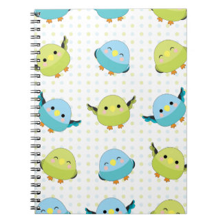 Kawaii Lineolated Parakeet-Gang Notizblock
