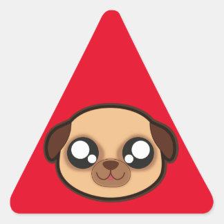 Kawaii lustiger Hundedreieckaufkleber Dreieckiger Aufkleber