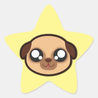 Kawaii lustiger Hundesternaufkleber Stern-Aufkleber