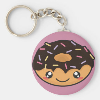 Kawaii lustiger und cooler Krapfen Schlüsselanhänger