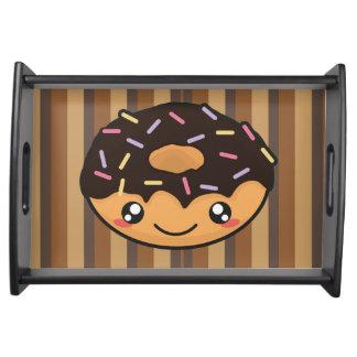 Kawaii lustiger und cooler Krapfen Tablett