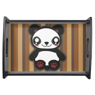 Kawaii lustiges Panda-Serviertablett Tablett
