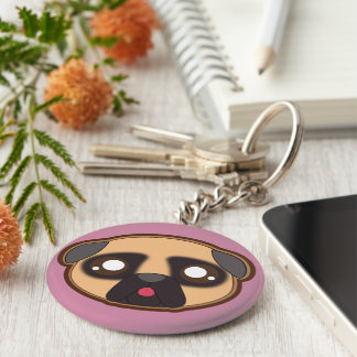 Kawaii lustiges und cooles Mops keychain Schlüsselanhänger