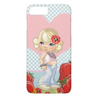 Kawaii Mädchen mit den Erdbeeren sehr niedlich iPhone 8 Plus/7 Plus Hülle