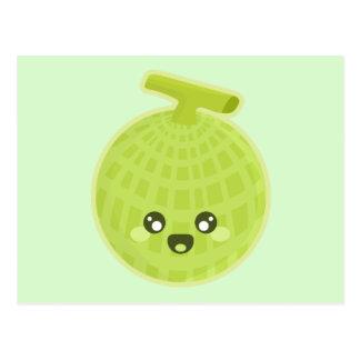 Kawaii Melone Postkarte