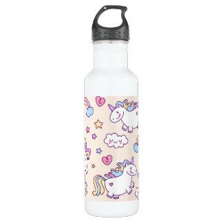 Kawaii molliges Fliegen-Einhorn-Regenbogenmuster Trinkflasche