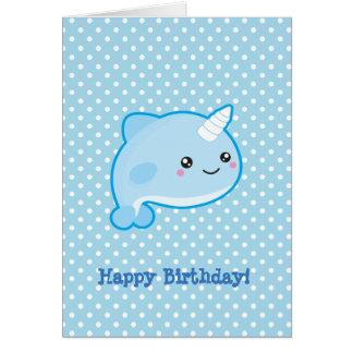 Kawaii Narwhal alles Gute zum Geburtstag Karte