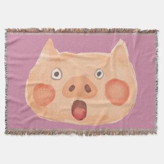 Kawaii niedlich überrascht wenig Piggy. Decke