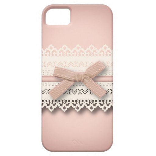 Kawaii niedliche Baby Rosa-weiße Spitze-Mode iPhone 5 Schutzhülle