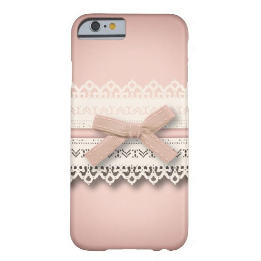 Kawaii niedliche Baby Rosa-weiße Spitze-Mode Barely There iPhone 6 Hülle