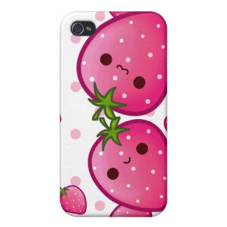 Kawaii niedliche Erdbeeren iPhone 4/4S Case