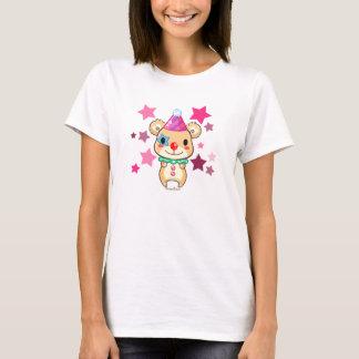 Kawaii niedlicher Clown-Bär mit Stern-T - Shirt