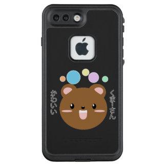 Kawaii/niedlicher Kuma-San Telefon-Kasten LifeProof FRÄ' iPhone 8 Plus/7 Plus Hülle