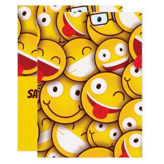 Kawaii niedlicher smiley Emoji Emoticon-Geburtstag Karte
