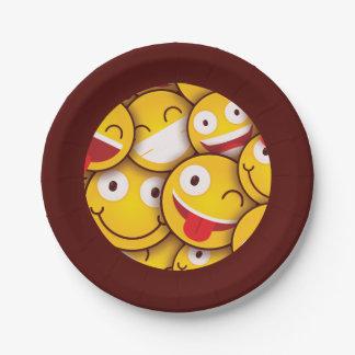 Kawaii niedlicher smiley Emoji Emoticon. Pappteller