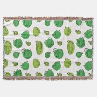 Kawaii niedliches sortiertes Kaktus-Muster Decke