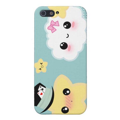 Kawaii Paarwolke und -stern iPhone 5 Etui