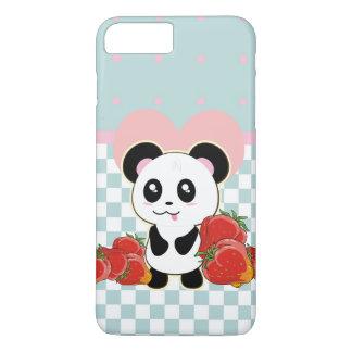 Kawaii Pandaerdbeeren niedlich iPhone 8 Plus/7 Plus Hülle