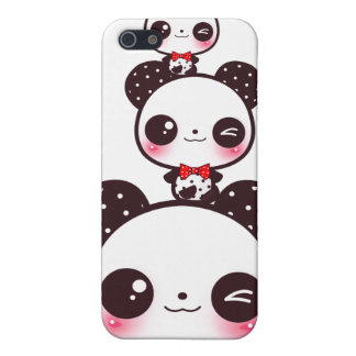 Kawaii Pandas Etui Fürs iPhone 5