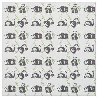 Kawaii Pandas Pima Baumwollgewebe Stoff