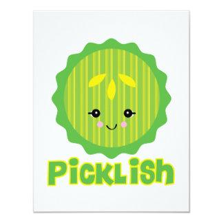 kawaii picklish Essiggurkenscheibe 10,8 X 14 Cm Einladungskarte