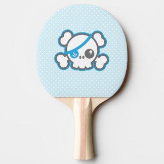 Kawaii Piraten-Schädel-Klingeln Pong Paddel Tischtennis Schläger