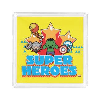 Kawaii Rächer-Superhelder grafisch Acryl Tablett