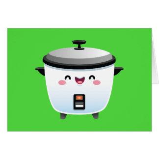 Kawaii Reis-Kocher Mitteilungskarte