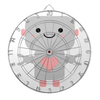 Kawaii Roboter-Cartoon Dartscheibe