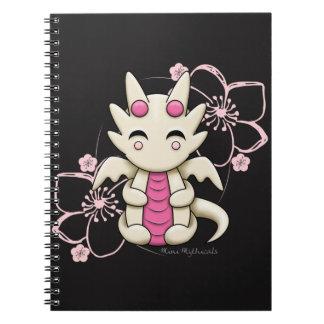 Kawaii rosa Drache-gewundenes Notizbuch Notizblock