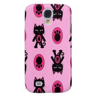 Kawaii rosa Katze und Tatze Pern Galaxy S4 Hülle