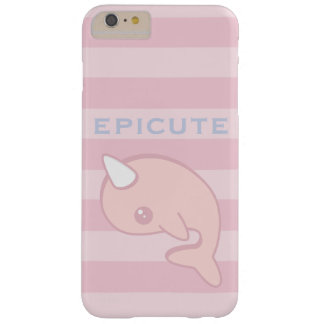 Kawaii rosa Narwhal Barely There iPhone 6 Plus Hülle