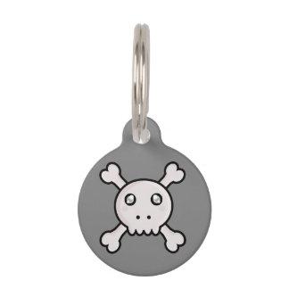 Kawaii Schädel Haustiermarke